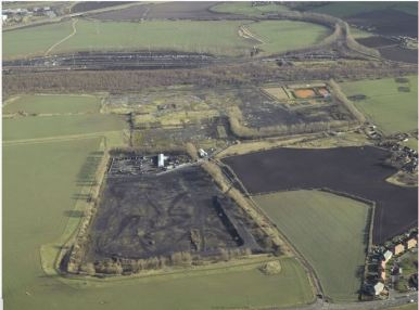 Monktonhall colliery cleared site