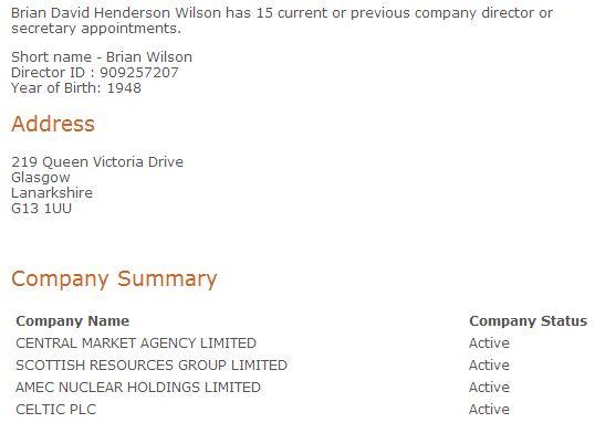 Brian Wilson directorships