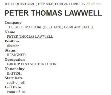 Lawwell TSCDMCL Group Finance Director