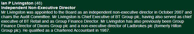 Ian Livingston Celtic website