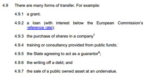 Forms of transfer