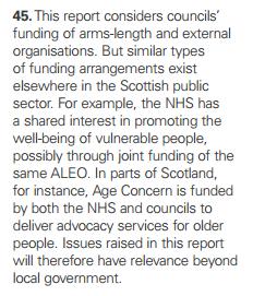Follow pound scope beyond councils NHS