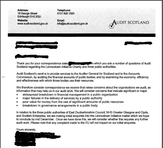 Audit Scotland reply redacted