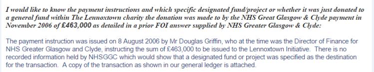 NHSGGC FoI reply on payment