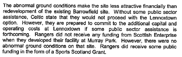 Celtic ask for some public assistance for Lennoxtown