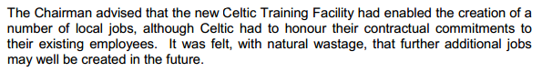 Celtic contractual obligation to existing employees 2008 minutes