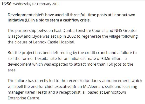 Kirkintilloch Herald 2 February 2011