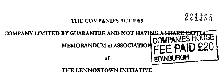 The Lennoxtown Initiative Limited by Guarantee