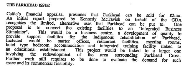 GDA valuation of PArkhead 2