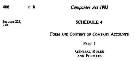 Schedule 4 Companies Act 1985