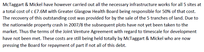 3.8 debt owed by NHSGGC to MM