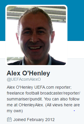 Alex OHeley UEFA twitter
