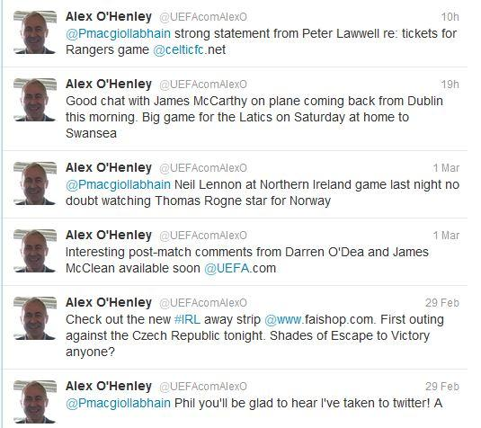 Alex OHenley early tweets 2