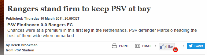 Derek Brookman UEFA PSV article 10 March 2011