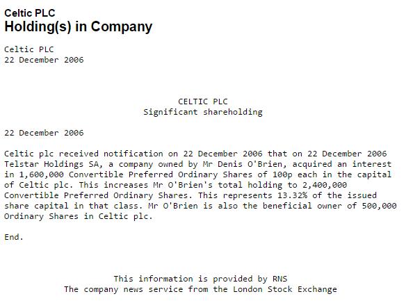 DOB Telstar Holdings SA