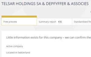 Telsar Holdings SA Swiss company