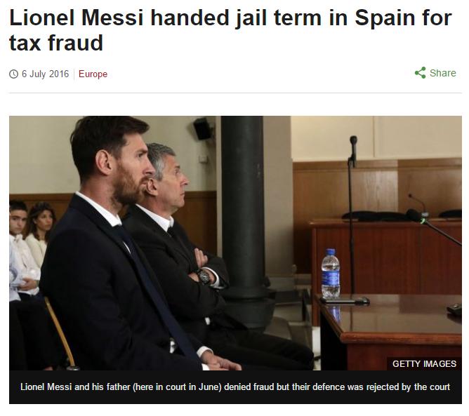 Lionel Messi tax Fraud 1