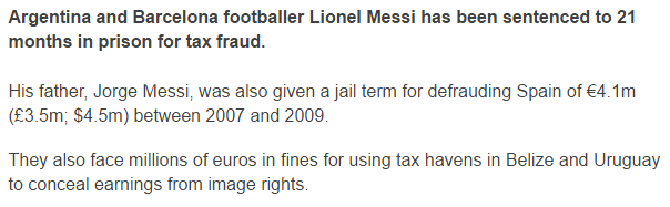 Lionel Messi tax fraud 2