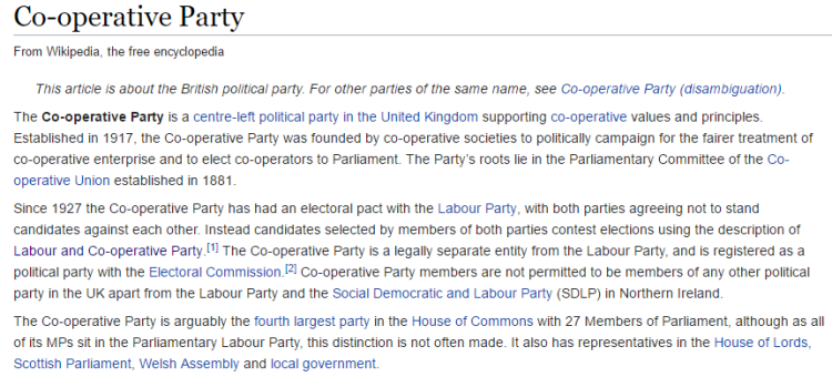 Co-operative Party