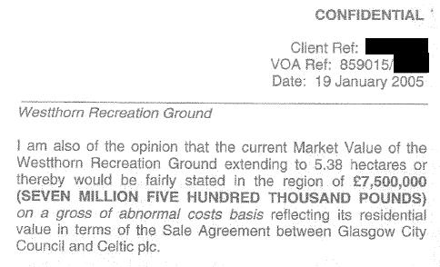 Dv Jan 2005 Westthorn 7 pt 5 million valuation