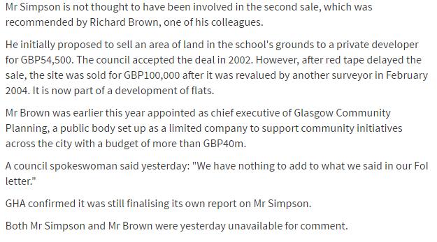 Herald Richard Brown report 26 May 2006