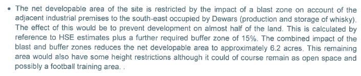 Savills net developable area