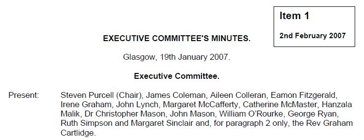 19 January Exec Comm members