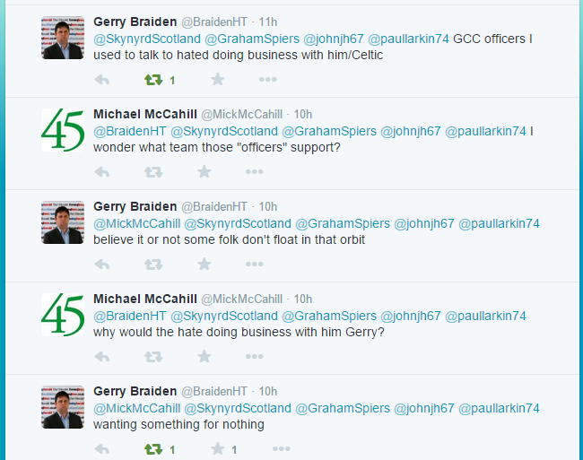 Gerry Braiden tweets about Lawwell