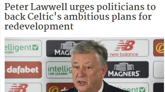 Peter Lawwell favours