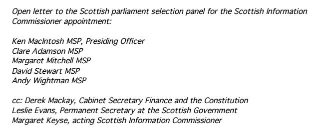 Media Letter Scots Govt minutes 1