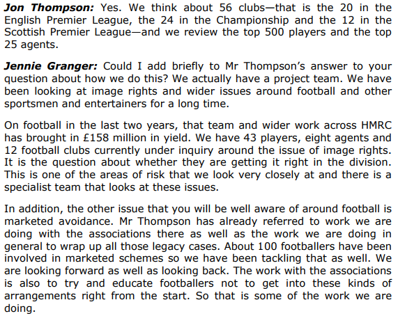 Jennie Granger HMRC Scottish football association film tax avoidance