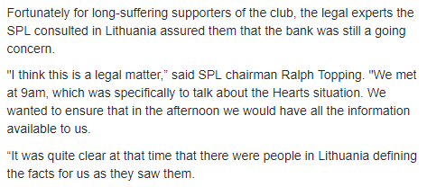 20 5 2013 DT article Hearts SPL 1
