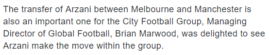 Brian Marwood City Football Group