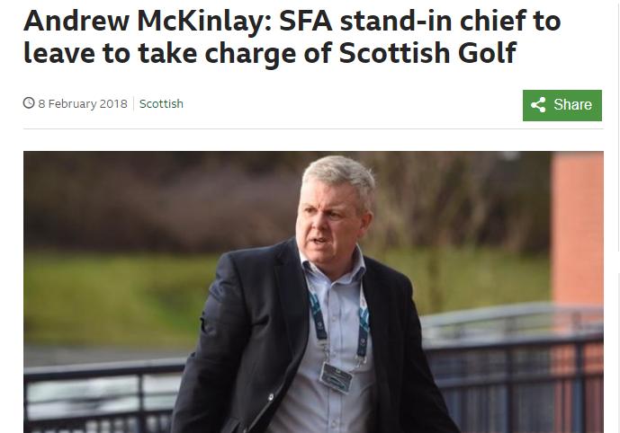 Andrew McKinlay Scottish Golf