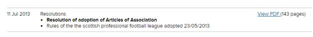 SPFL resolution 11 July 2013