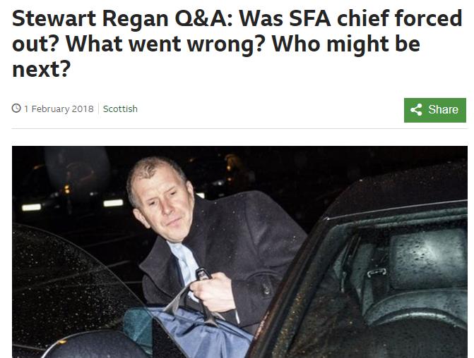 Stewart Regan Leaves SFA