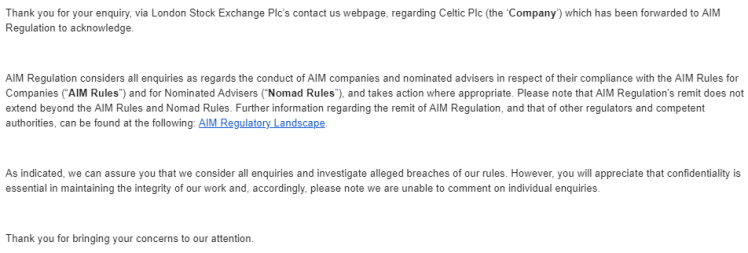 AIM notification
