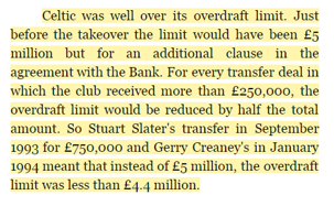 David Low book overdraft comment