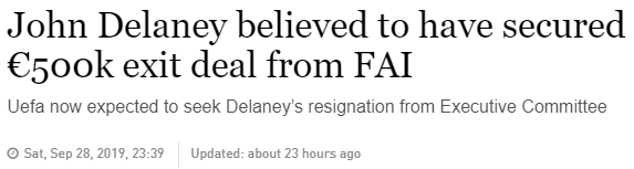 Delaney 500k euro payment from FAI