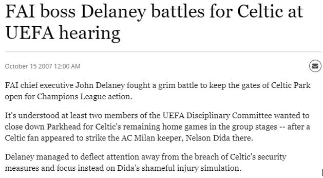Delaney battles for Celtic at UEFA