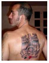 Di Canio back tattoo