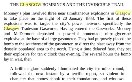 Glasgow fenian bombings 1883
