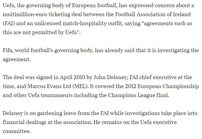 Marcus Evans Delaney deal