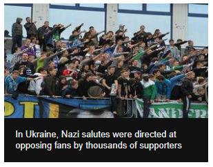 Ukraine nazi football fans
