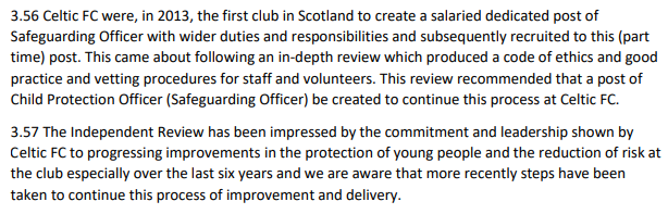 Only 3 mentions of Celtic in SFA Interim report into sexual abuse 2017